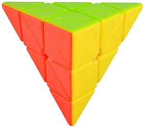 Assemble Stickerless Pyramix Super Smooth Move Freely Pyramid Cube(1 pcs)