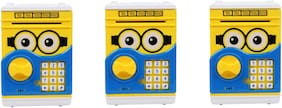 Atm Cute Coin Bank For Kids (Pack Of 3)