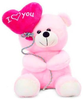 ATTRACTIVE Pink Teddy Bear - 32 cm