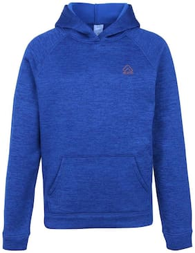 Aurro Boy Polyester Solid Sweatshirt - Blue
