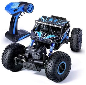 Authfort 2.4Ghz 1/18 RC Rock Crawler Vehicle Buggy Car 4 WD Shaft Drive High Speed Remote Control Monster Off Road Truck 20  (Multicolor)
