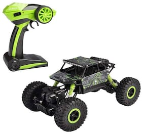 Authfort 2.4Ghz 1/18 RC Rock Crawler Vehicle Buggy Car 4 WD Shaft Drive High Speed Remote Control Monster Off Road Truck 25  (Multicolor)