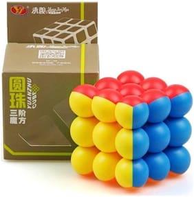 AUTHFORT 3x3x3 Ball Speed Puzzle Cube Brain Teaser -Multicolor (1 pcs)