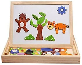Authfort HEER Educational Learning Wooden Animal Magnetic Puzzle With Board Game (HCCD ENTERPRISE)  (Multicolor)