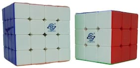 Authfort Imported 3X3 and 4X4 Rubic Magic Cube  (2 Pieces)