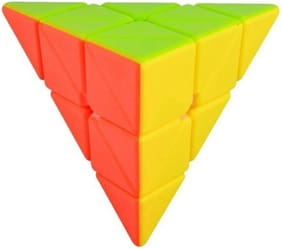 AUTHFORT Pyramid Stickerless Speed Cube Triangle Cube Puzzle (1 pcs)