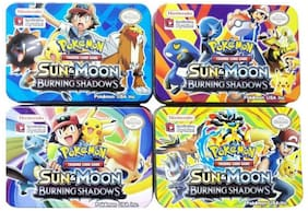 Authfort Sun Moon Burning Shadow Playing cards pack of 4 (Multicolor)