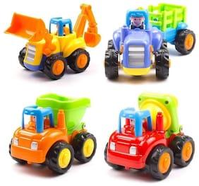 Authfort Unbreakable Automobile Car Toy Set ( 4 Toys )  (Multicolor)