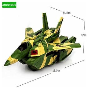 Automatic Transformation Jet Fighter Airplane & Fighter Tank Toy Convertible Electric With Lights From Pikaboo