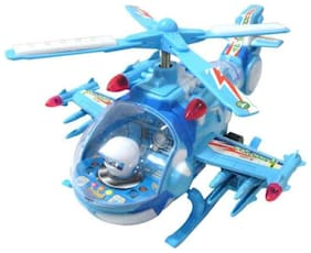 AV IN Helicopter With Led Lights On Wings And Music For Kids
