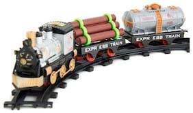 AV INT 11 pcs Toy Train Track Set for Kids