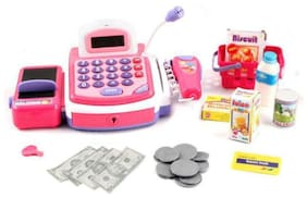AV INT  (40pc Deluxe Edition) Pretend Play Electronic Cash Register Toy Realistic Actions & Sounds