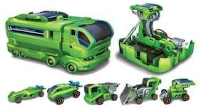 AV INT 7 in 1 Changeable Solar Power Energy Robot Car Toy Kit for Kids