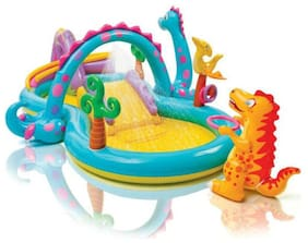"""AV INT Dinoland Inflatable Play Center, 131"""" X 90"""" X 44"""", for Ages 2+"""