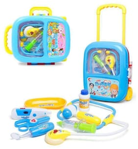 AV INT  Doctor Play Set with Trolley Suitcase with Light and Sound Effects