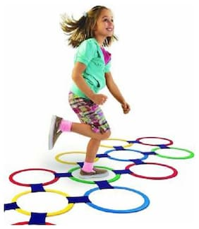 av int Latest 13 Rings Twister Hopscotch Indoor Game Set Board Game
