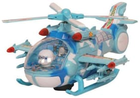 AV INT Multicolour Plastic Musical Helicopter