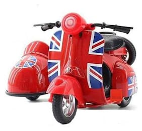 av int  Toys 1:14 Scale London Vespa Scooter with Sidecar Die  (Multicolor)