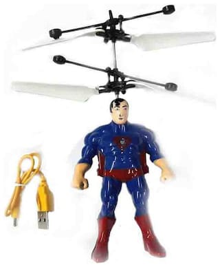 Avengers Initiative Flaying Hero SuperMan Helicopter Toy with Hand Sensor Control and USB Charger