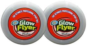 Awals Flexible Disc (Frisbee) 27 Cm Diameter, Glow in the Dark-Set Of 2