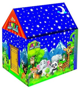 Awals Jungle Night Safari LED Light Tent House With Height Chart For Kids