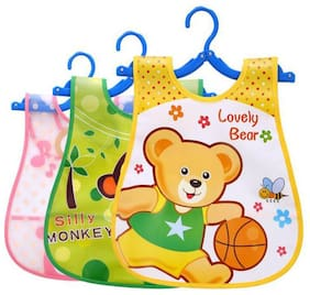 Baby Bibs for New Born Infants Set of 3  (Multi colour)
