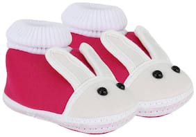 Pin to Pen Pink Booties For Infants