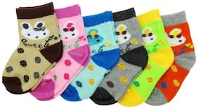 Baby Boy& Baby GirlPrinted Ankle Length cotton Socks (Pack of 6 )