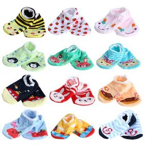 1 pair Baby Childrens Socks Slippers Anti Non slip Cute GH # International Bazaar