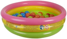 BABY CORN 3 ft Kid s Swimming Pool/Ball Pool/Water Pool with Floating 40 Balls (Multicolor)