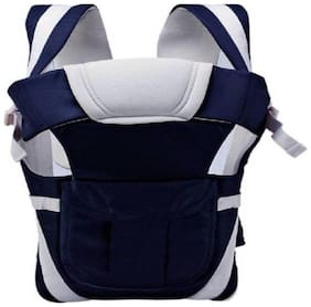 Baby Corn 4-IN-1 Carrier Bag;POLYCOTTON Adjustable Hands-Free Baby Carrier (0-30 Months) - Dark Blue