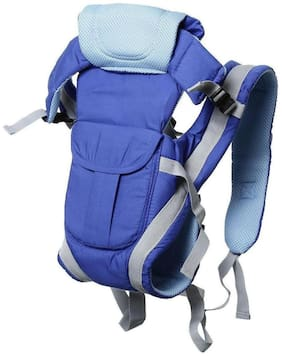 Baby Corn 4-IN-1 Carrier Bag;POLYCOTTON Adjustable Hands-Free Baby Carrier (0-30 Months) - Blue