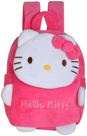 Baby Corn Cute Soft Hello Kitty School Bag For Kids, Travelling Bag, Carry Bag, Picnic Bag - Age 2 to 5