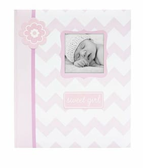 Baby Girl Girls First Year Memory Photo Book Pink Cover Shower Party Parent Gift