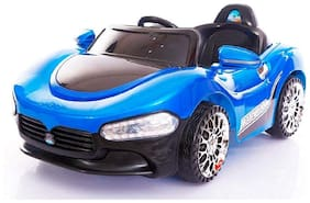 BABY KIDS ZONE BRAND;Baby Super Stylish Rechargeable Battery Operated LED Light Car Blue Color With Remote Control And Mobile Music Connectivity For Your Kids