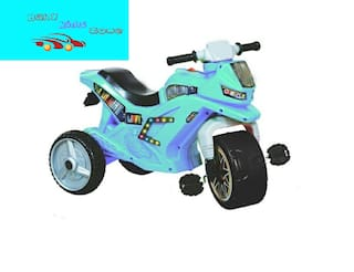 Baby Kids Zone Baby Brand;Baby Super Style Bike Shape Tricycle With Heavy Wheel & Comfortable Seat With Light & Musical For Your Kids Blue