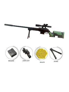 Baby Kids Zone PUBG 110 cm AWM Gun for Boys;500 Plastic 6mm BB Bullet Sniper Gun Toy AWM Rifle Gun Toy with 50 ft Power Shooting Range - with BB Balls Big Size
