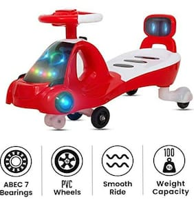 Baby Kids Zone Modern Magic Car Baby with Music Seat Kids Ride on Push car Toys-Twist and Swing Magic Car for Kids Babies Suitable Age