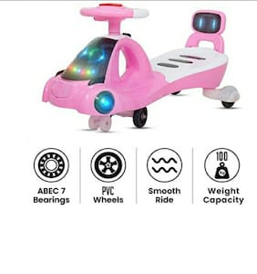 Baby Kids Zone Modern Magic Car Baby with Music Seat Kids Ride on Push car Toys-Twist and Swing Magic Car for Kids Babies Suitable Age 2 Years and Up Boys and Gir