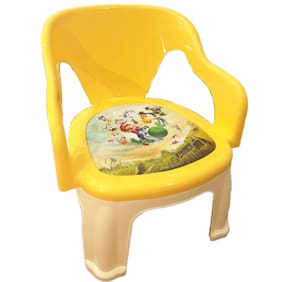Baby Kids Zone Multi-Purpose Small Chair For Baby With Soft Seat (With Cushion) And With Whistle In Seat