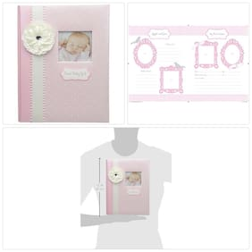 Baby Memory Book Girl Pink First-5 Years 64 Beautifully Illustrated Pages New