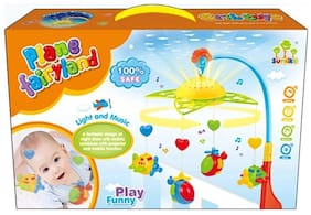 Baby Musical Mobile Projector Bed Bell with Beautiful Airplane Rotating Toy(with Light & Sound)