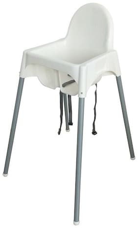 Baby Toddler Kids Highchair Tray Legs Seat Feeding Chair White