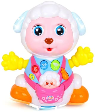 ODDEVEN Baby Toys Record and Play Interactive Lovely Toy Sheep Kids Early Learning Educational Toys with Music & Lights  (Multicolor)