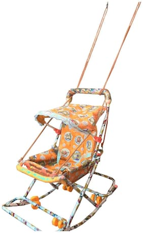 Baby Walker With 6 In 1 Function Orange SE-W-28