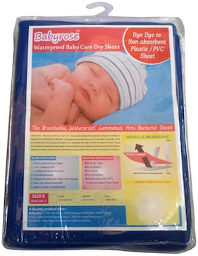 Waterproof Baby Dry Sleeping Mat-(Dark Blue Large)