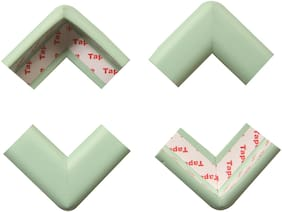 BabySafeHouse Table Corner Edge Guards for Infant and Baby Safety- Pre Taped with strong adhesive-Pack of 4 pcs (Green Color)