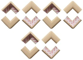 BabySafeHouse Table Corner Edge Guards for Infant and Baby Safety- Pre Taped with strong adhesive-Pack of 12 pcs (Ivory/Beige Color)