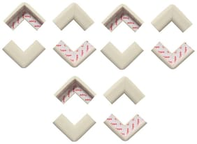 BabySafeHouse Table Corner Edge Guards for Infant and Baby Safety- Pre Taped with strong adhesive-Pack of 12 pcs (White Color)