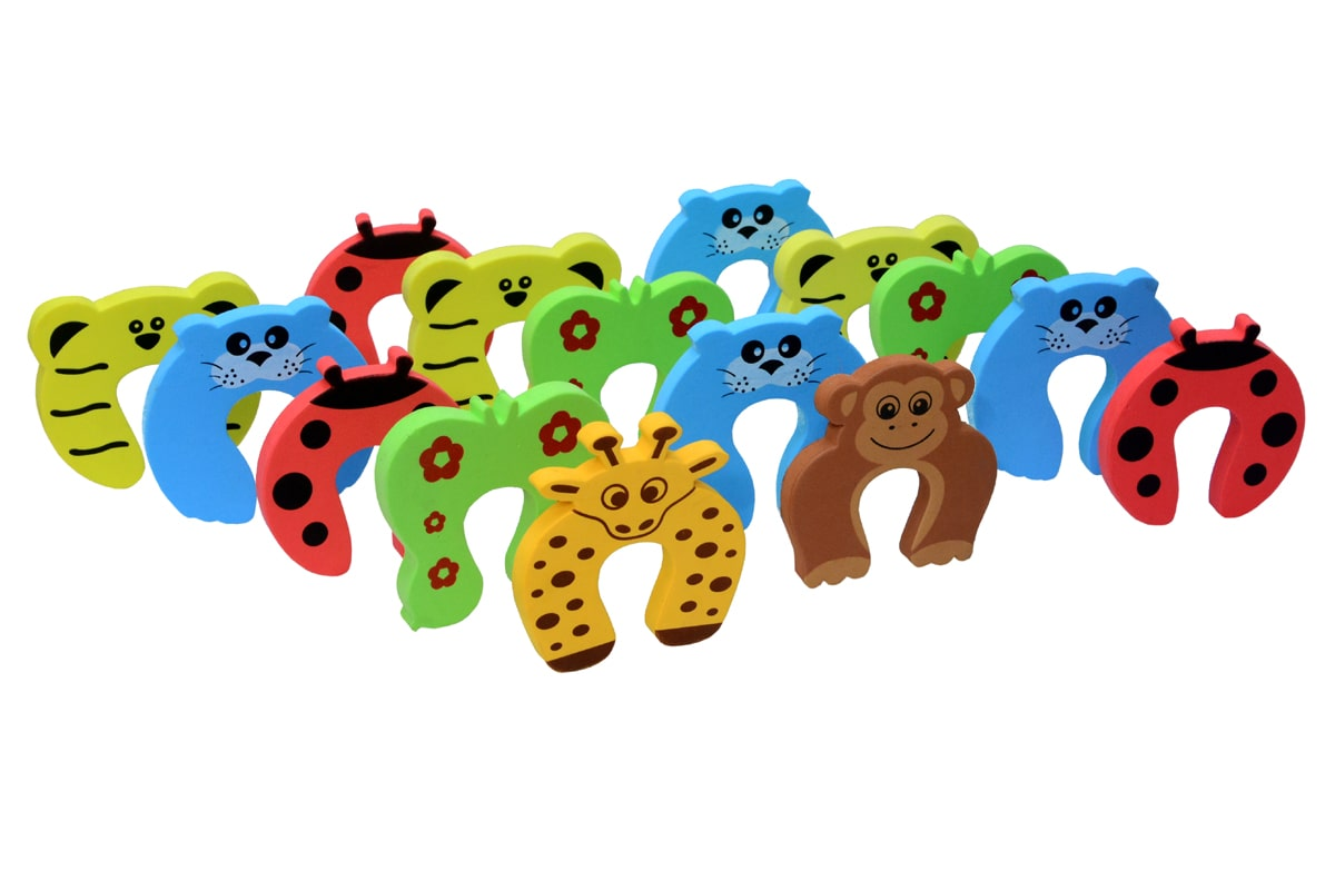 BabySafeHouse 15 pcs Finger Pinch Door Guard (Animal Shape) for Baby Safety...